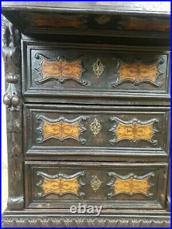 RAREBeautiful Antique Italian Neo Renaissance Bergamasco Chest of Drawers