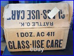 RARE 1940s MAGIC FOLLIES GIRLIE PINUP 1940's GLASSES SET OF 12 IN ORIGINAL BOX