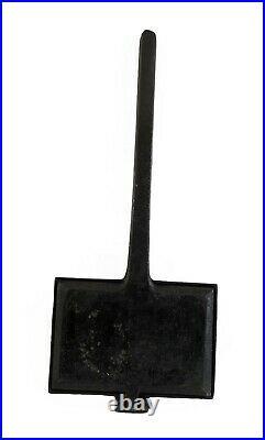 RARE Antique Cast Iron German Waffle Iron w 6 beautiful, different pattern 1900