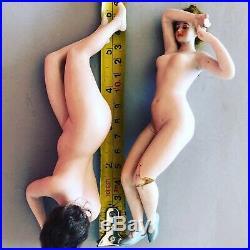 RARE Antique Porcelain Dolls Ladies Galluba & Hoffman Pair Bathing Beauty Bisque