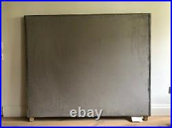RARE Beautiful Luxury King Velvet Headboard Antique Bronze Studded (OKA STYLE)