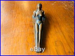 Rare 1920s Art Deco NUART Nude Female Figurine with alabaster insert Beautiful