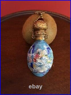 Rare Antique 1800s Italian Venetian millefiori perfume scent bottle Beautiful