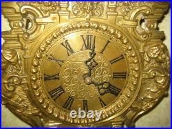 Rare Antique Beautiful, Brass Wood Cuckoo Clock