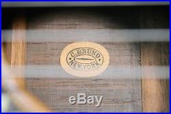Rare Antique C. BRUNO NEW YORK Flat Top Acoustic Parlor Guitar. Beautiful