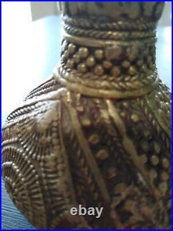 Rare Beautiful16th -17th Century Islamic Persian Bronze / Brass Vase Pot 4.5