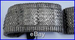 Rare Beautiful Asian 1900's Antique 800 Silver Flexible Bracelets 195 Gr