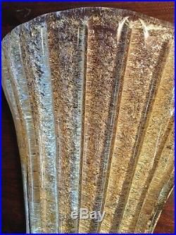 Rare Beautiful Aureliano Toso Murano 1938 Glass Wall Sconce/shade. Made In Italy