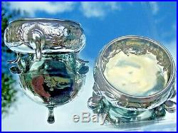 Rare Beautiful Georgian 1750 London David Hennell Silver Open Salts