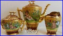 Rare & Beautiful Royal Vienna Tea Set Antique
