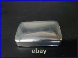 Rare & Beautiful Solid Silver Georgian Snuff Box Edward Smith 1825