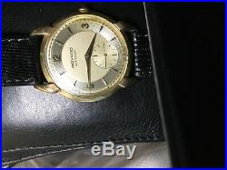 Rare Deco Vintage Automatic Movado Watch With Racetrack Dial -beautiful
