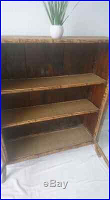 Rare Old Bookcase. Beautiful Victorian Antique Bamboo Bookcase Cabinet Circa 1880