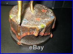 Rare Signed Bergman Naughty Mechanical Vienna Bronze Bathing Beauty Circa 1900