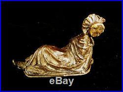 Rare Signed Bergman Naughty Mechanical Vienna Bronze Bathing Beauty Circa 1905