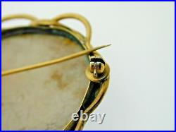 Rare Wedgwood Jasper Cameo Brooch Safety Pin 28 Grams Beautiful scene Antique