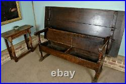 Rare and Beautiful Oak Metamorphic Monks Bench and Table c. 1700