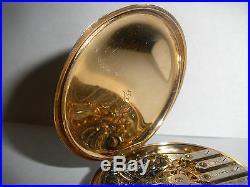 Rare beautiful antique 14k gold Elgin pocket watch 16s 305 hunter case running