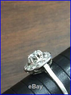 Stunning Quality Rare Antique White Diamond Target / Wedding Cake Ring Beautiful