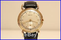 Vintage Ww2 Era Rare Beautiful Swiss Gold Plated Men's Mechanical Watch Orfina